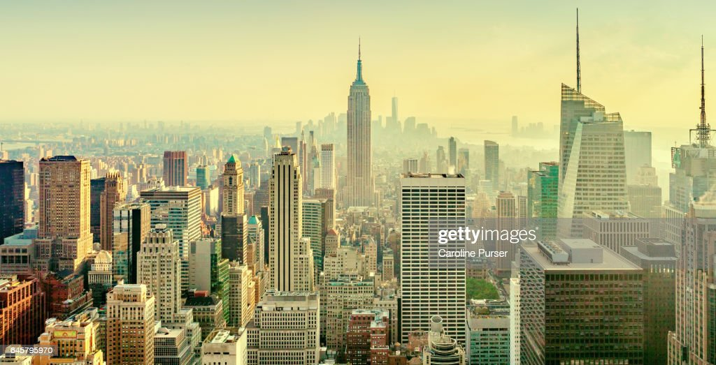 Empire State Building and New York skyline, USA : Stock Photo