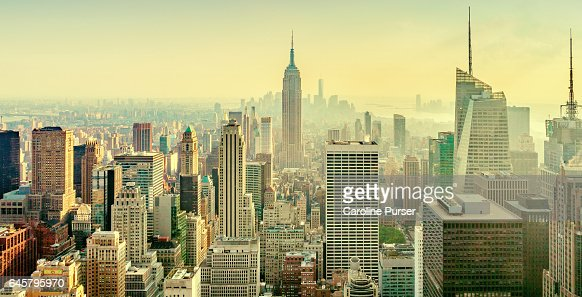Empire State Building and New York skyline, USA : Stock-Foto