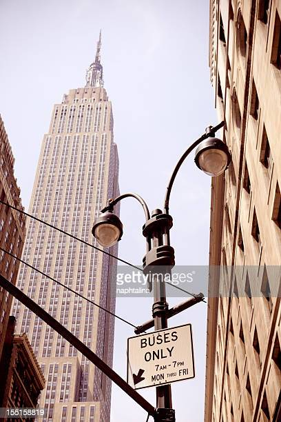 Empire State Building and street lamp
