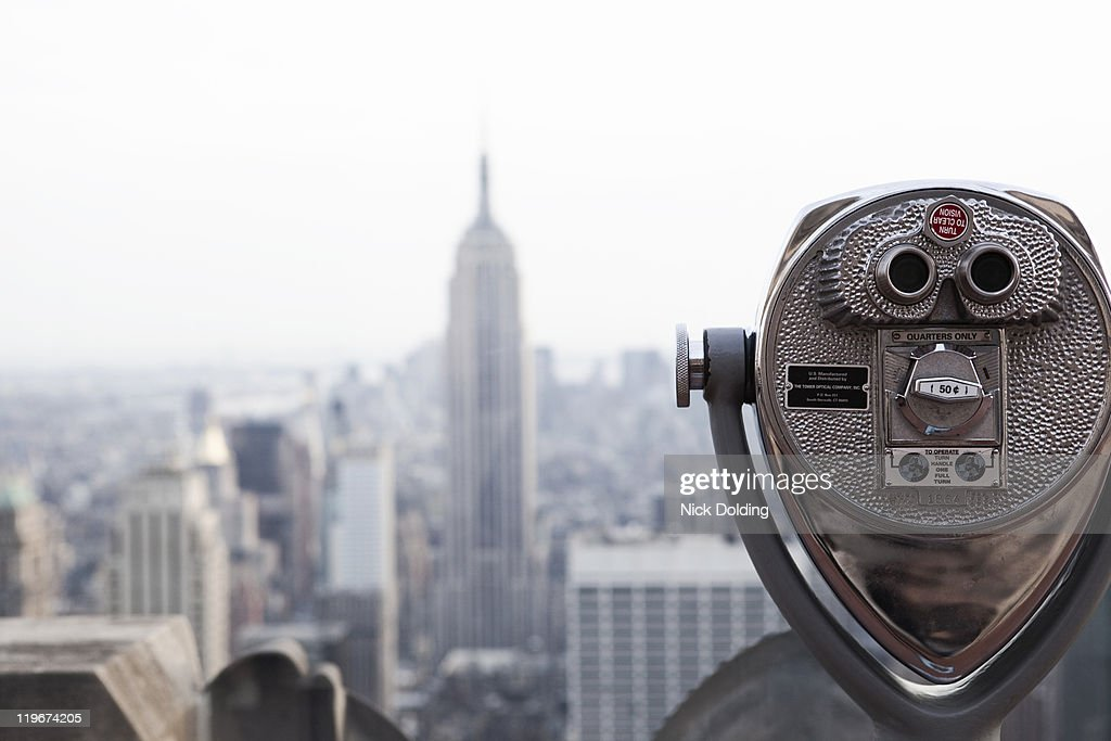 Empire State Building as seen from the Rock : Stock Photo
