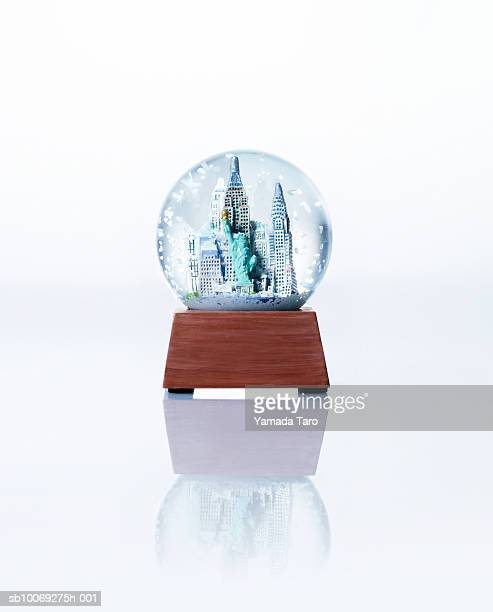 Empire State building snow globe, close-up