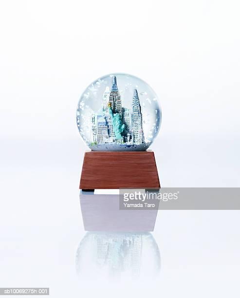 Empire State building snow globe, close-up