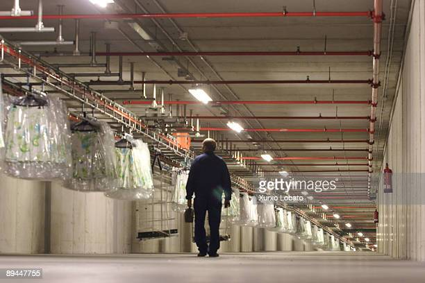 Empire Tunnel connecting the factories with the Logistic distribution center of the Zara Company Sabon Arteixo la Coruna The Spanish Fashion Company...