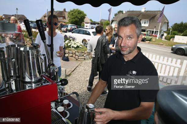 A employee attends a store event on July 7 2017 in Sylt Germany