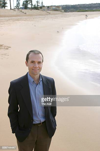 Employee engagement and empowerment Dr Peter Langford a Macquarie University academic / Lecturer stands on Dee Why Beach August 5 2005 in Dee Why...