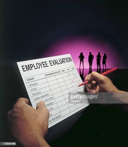 Funcionário de avaliação
