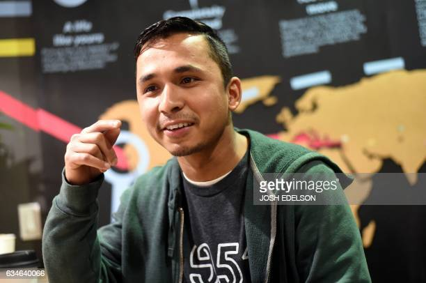 Employee Meg Karki of Butan speaks to a reporter at 1951 Coffee Company in Berkeley California on February 09 2017 The 1951 Coffee Company is a...