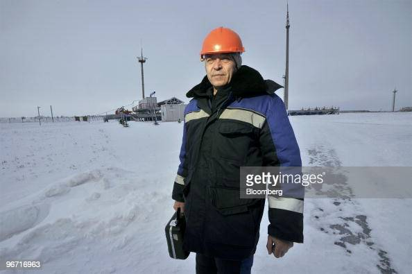 Employee Nikolai Konopla returns from the monitoring station at the gas compressor facility operated by OAO Gazprom in Sudzha Russia on Thursday Feb...