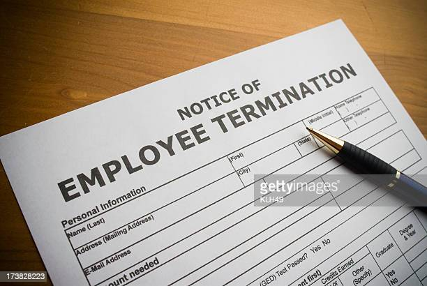 Employee Termination document
