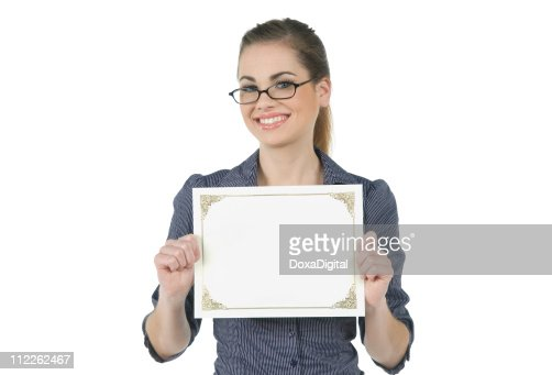 Employee with Blank Certificate