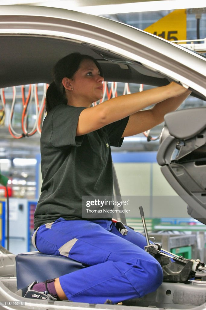 Mercedes benz launches new a class production getty images for Mercedes benz employee
