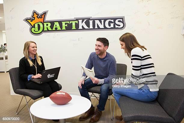 Employees at DraftKings headquarters Boston Massachusetts
