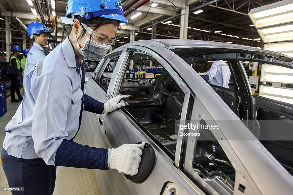 Production Inside A Ford Motor Co Plant As Gdp Figures