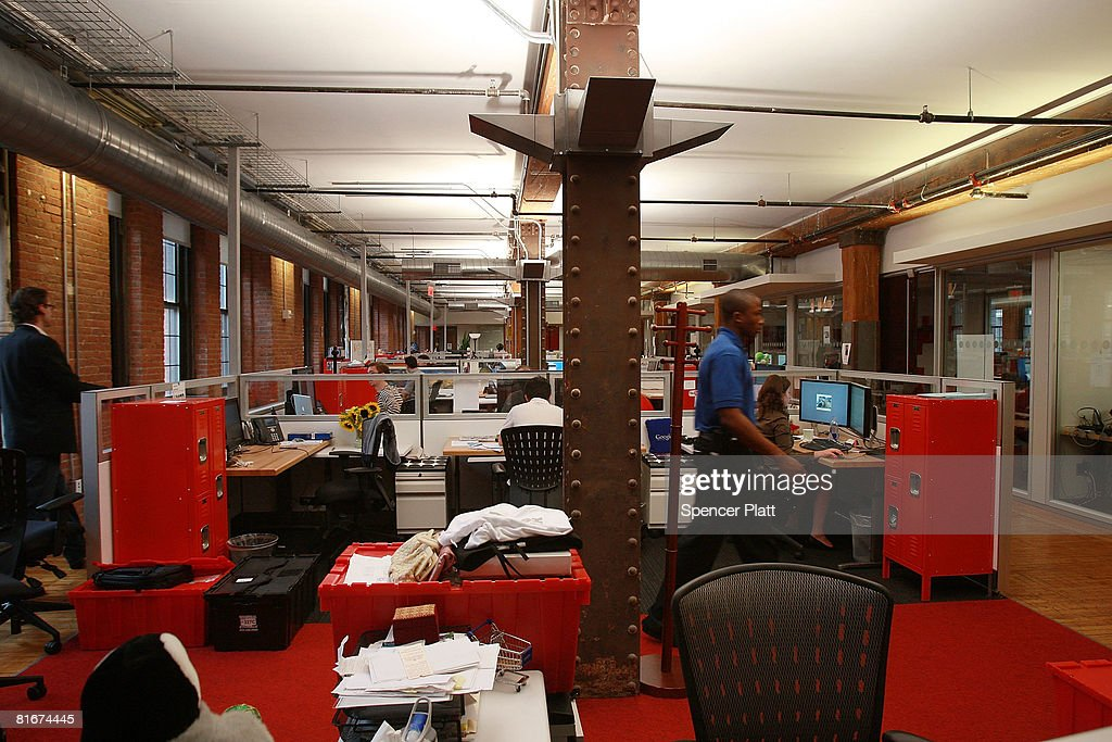 Employees for Google work at the internet company's new office space inside historic Chelsea Market June 23 2008 in New York City The new space which...