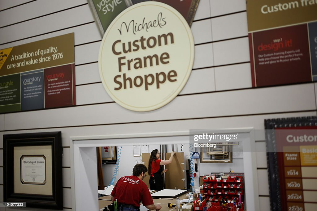 employees frame orders and artwork at a michaels stores inc location in cincinnati ohio