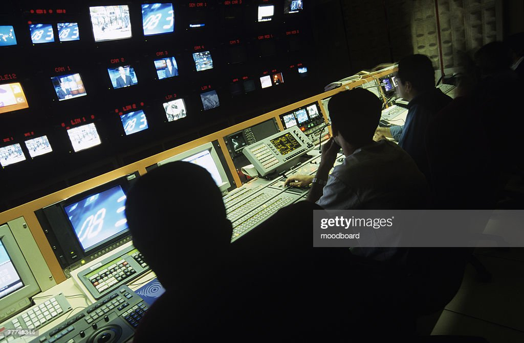 Employees in Broadcasting Studio