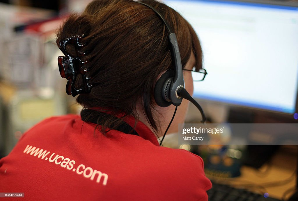 Employees in the UCAS clearing house call centre answer telephone enquiries as they prepare to assist A-level students ahead of results day on August 18, 2010 in Cheltenham, England. With A-level results published in England and Wales tomorrow, the university admissions service (UCAS) say they are expecting 'even greater' pressure this year during the clearing process - which matches students who have been turned down by their original choices, to other courses. A record 170,000 students will miss out on places at university, which is due to the record number of applicants, up 11.6 percent this year.