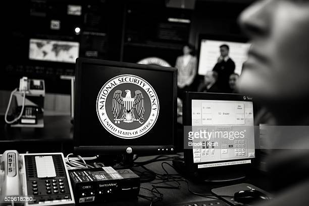 Employees inside the National Security Agency headquarters in Fort Meade Maryland outside Washington DC The NSA is the central producer and manager...