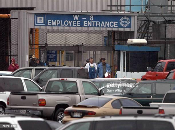Employees leave the General Motors Doraville Assembly Plant after their shift ended November 21 2005 in Doraville Georgia The plant is one of nine...