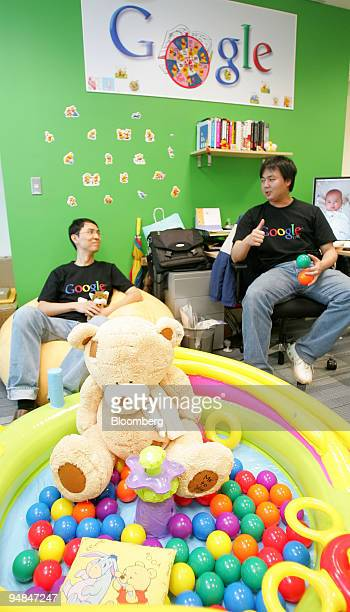 Employees of Google Inc sit in the company's offices in Taipei Taiwan on Monday May 5 2008 Microsoft Corp's decision to drop its pursuit of Yahoo Inc...