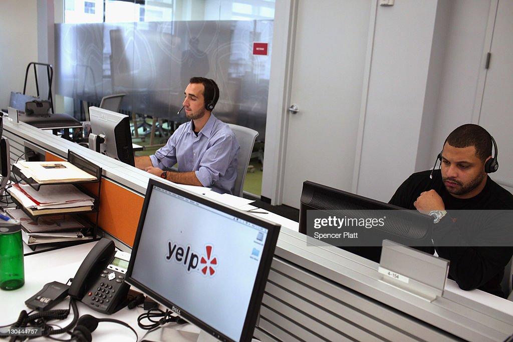 Employees of the online review site Yelp watch as New York City Mayor <a gi-track='captionPersonalityLinkClicked' href=/galleries/search?phrase=Michael+Bloomberg&family=editorial&specificpeople=171685 ng-click='$event.stopPropagation()'>Michael Bloomberg</a> speaks at the new East Coast headquarters of the tech company on October 26, 2011 in New York City. The Bloomberg administration has been heralding and working to facilitate the tech sector in New York City in hopes of making New York City a rival to Silicon Valley for start-up companies.