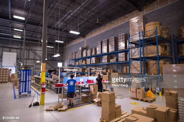 Employees package vinyl records at the Precision Record Pressing facility in Burlington Ontario Canada on Friday June 30 2017 Precision is the...