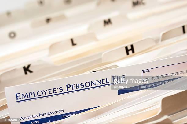 Personal del empleado de archivo