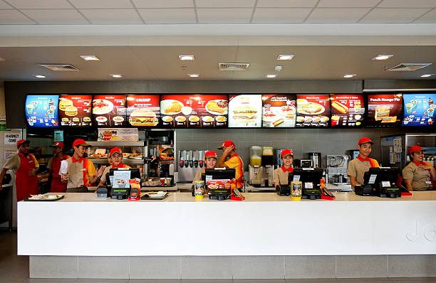 Photos et images de customers inside a jollibee restaurant
