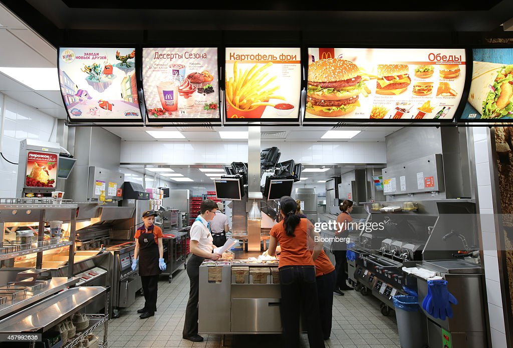 Inside a russian mcdonald 39 s corp restaurant as putin instigates government investigation Kitchen design for fast food restaurant
