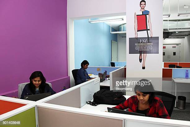 Employees work in the office of Myntracom a unit of Flipkart Internet Services Pvt in Bangaluru India on Friday Dec 04 2015 Discounts and cashback...
