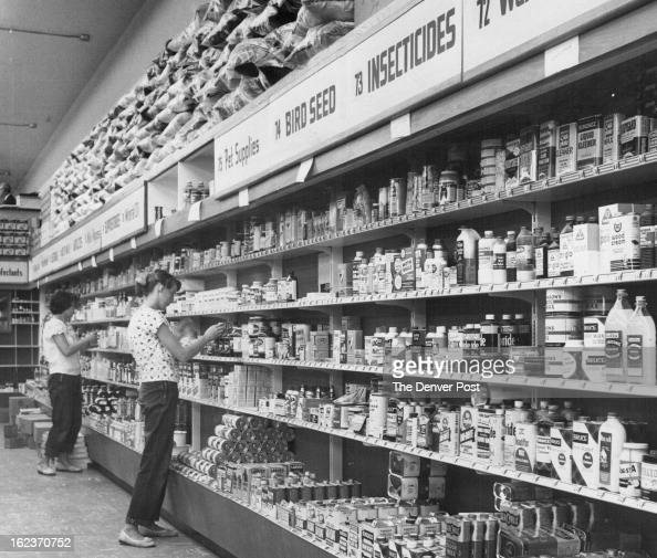 AUG 27 1956 AUG 29 1956 Employes stock selfservice shelves in the Skaggs drug store in the Lakeside center The new store is the largest of the 21...