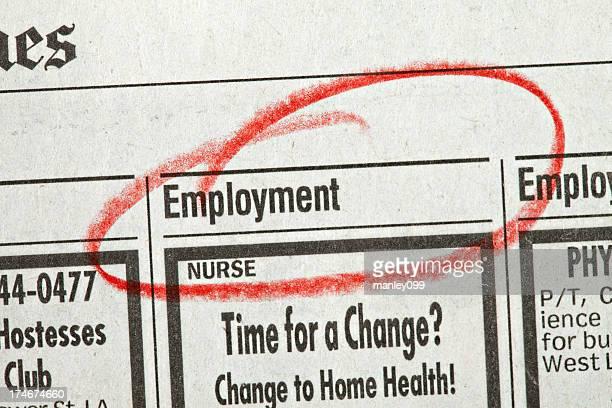 Beschäftigung umkreist