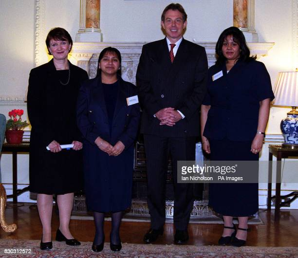 Employment Minister Tessa Jowell took employers and worker's from the New Deal programme to 10 Downing Street to meet the Prime Minister Tony Blair *...
