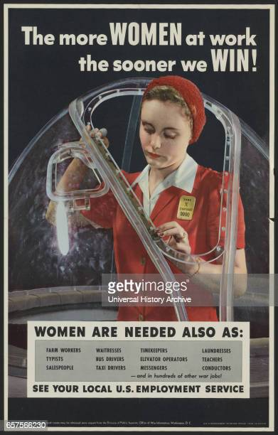 Employment Poster Recruiting Female Workers during World War II USA Alfred T Palmer for Office of War Information 1943