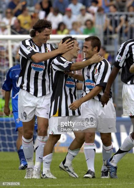 Empoli 11 September 2005 Zlatan Ibrahimovic of Juventus FC celebrates during the Serie A match between Empoli and Juventus played at Carlo Castellani...