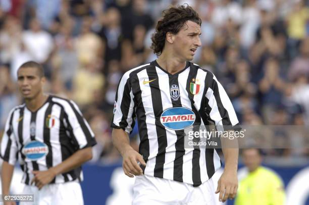 Empoli 11 September 2005 Zlatan Ibrahimovic of Juventus FC in action during the Serie A match between Empoli and Juventus played at Carlo Castellani...