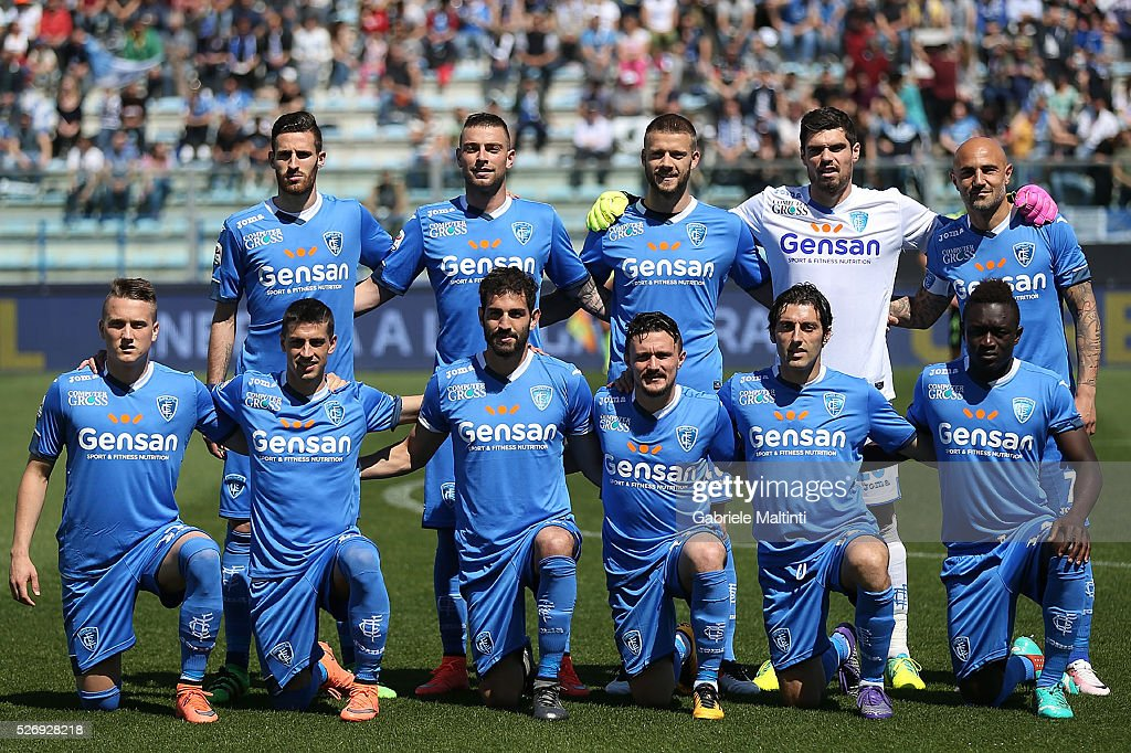 Empoli FC poses prior to the Serie A match between Empoli FC and Bologna FC at Stadio Carlo Castellani on May 1, 2016 in Empoli, Italy.