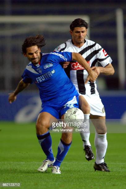 Empoli's Daniele Adani and Udinese's Vincenzo Iaquinta battle for the ball