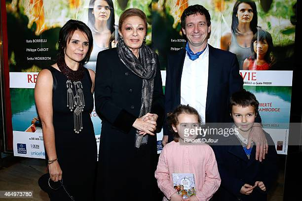 Empress Farah Pahlavi Actress and Director of the movie Ilaria Borrelli her husband Co Director of the movie Guido Freddi their daughter Alma and...