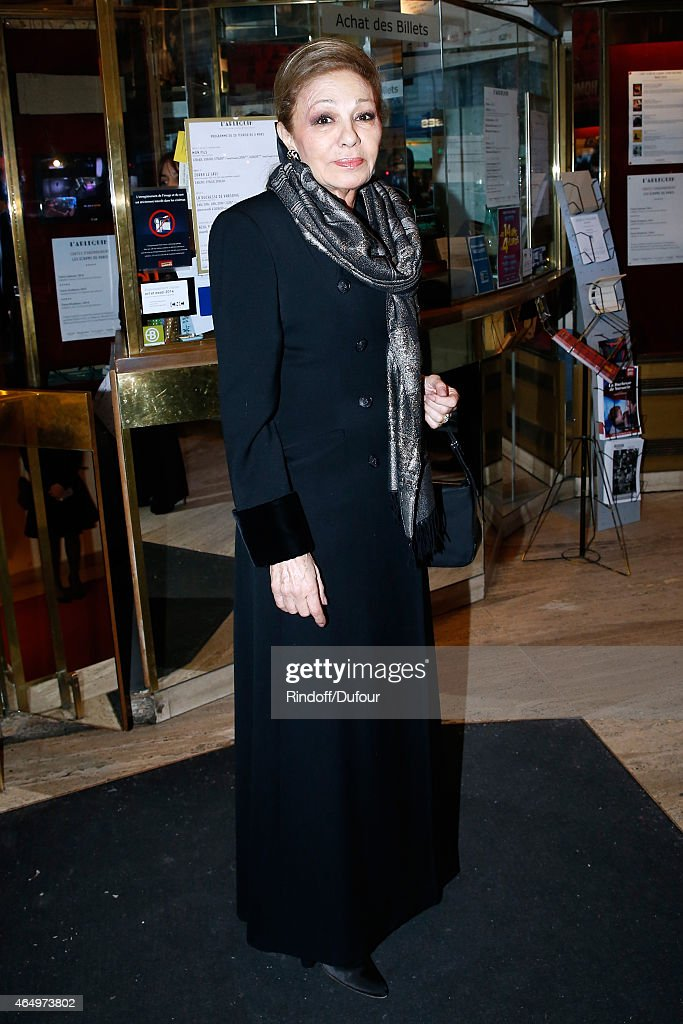 Empress Farah Pahlavi attends the 'Talking to the Trees - Retour a La Vie' movie screening at Cinema l'Arlequin on March 2, 2015 in Paris, France.
