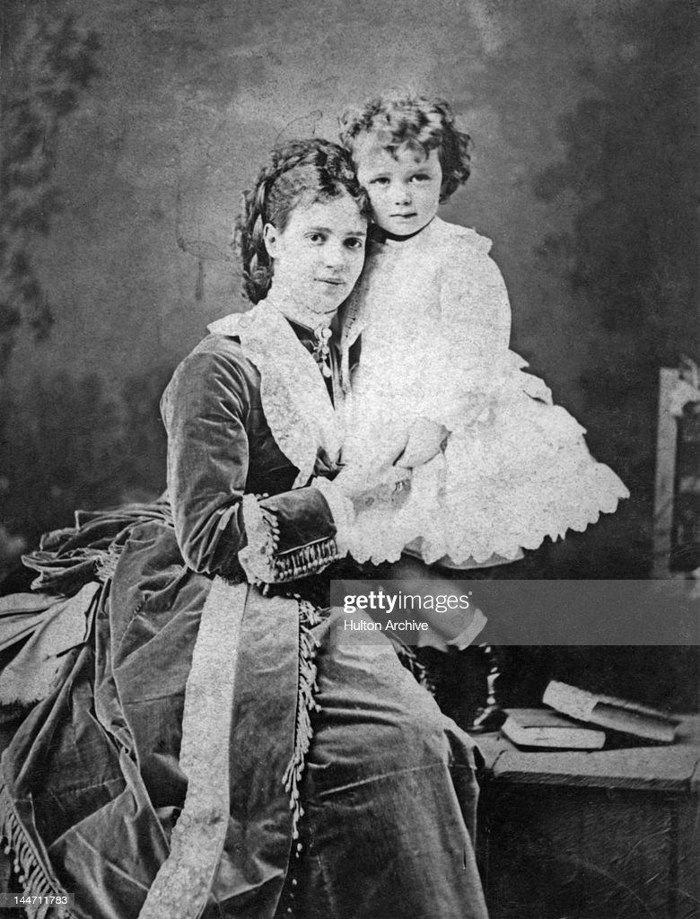 Empress Maria Feodorovna of Russia (formerly Princess Dagmar of Denmark) with her eldest son, the future Nicholas II of Russia, circa 1871.