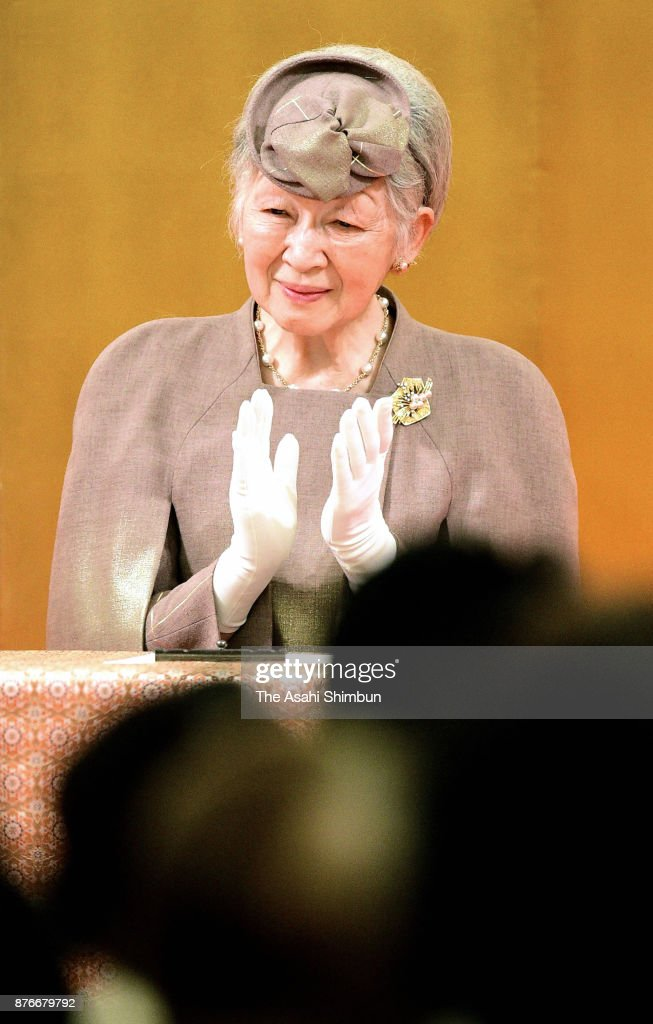 Empress Michiko Attends Japanese Nursing Association 70th Anniversary Of Foundation Ceremony