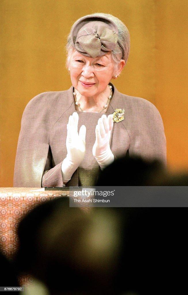 Empress Michiko Attends Japanese Nursing Association 70th Anniversary Of Foundation Ceremony