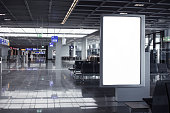 Advertising frame in airport