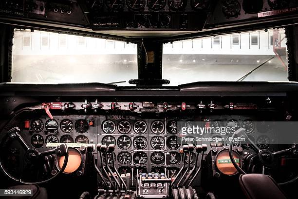 Empty Airplane Cockpit