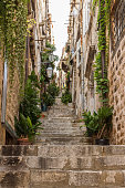 Empty alley and steps at Dubrovnik's Old Town