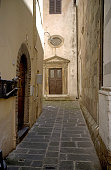 Empty Ally Way in Lucca Italy
