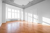 Empty apartment room - luxury real estate interior