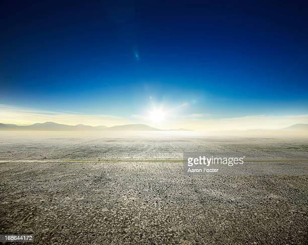 Empty asphalt road and horizon 2