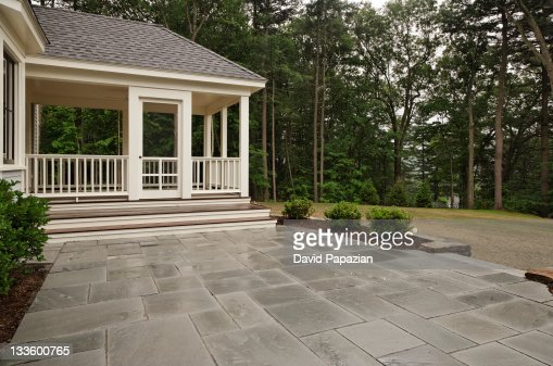 Empty Backyard Living Space Of Traditional Home Stock Photo  Getty